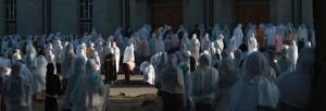 Nedělní modlitba u kostela svatého Gabriela v Awasse v Regionu Jižních národů a národností v Etiopii.